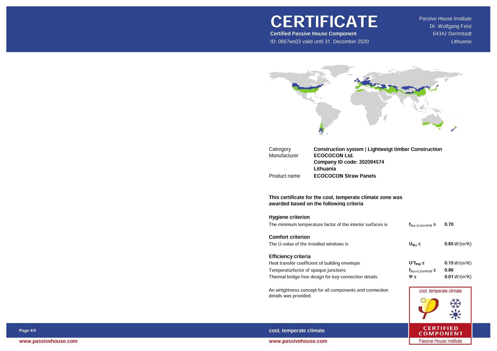 Certificat Case Ecologice Pasive 1